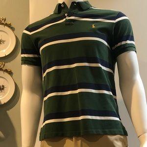 Polo Ralph Lauren Navy/Green/White Striped Polo